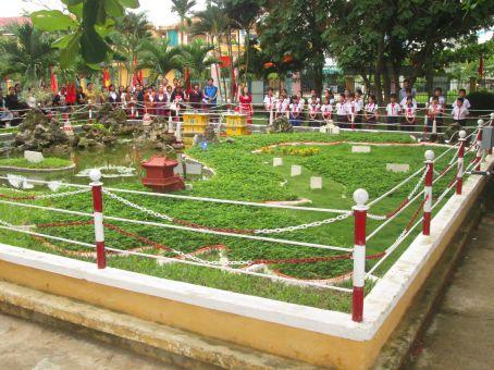 Mô hình biển đảo trường TH Nguyễn Đức Thiệu